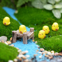 5Pcs Mini Yellow Chicken Micro Landscape Fairy Garden Decor Dollhouse Toy DIY BH