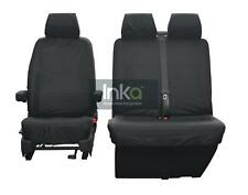 VW Transporter T5 T5.1 GP Front Inka Tailored Waterproof Seat Cover Black AIRBAG