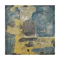 """8 x 8"""" wood MiTaK SIGNED ORIGINAL MIXED MEDIA RECYCLED rustic abstract ART"""