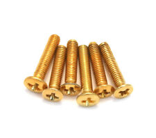(6) Gold Short Mounting Screws for Mini Sealed Guitar Tuner Buttons GS-3378-002
