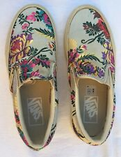 Vans Festival Satin Slip On Silk Brocade Sneakers Shoes Size Women 5.5