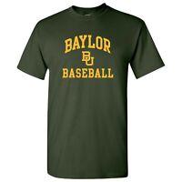 Baylor Bears Arch Logo Baseball T-Shirt - Forest
