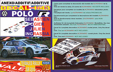 ANEXO DECAL 1/43 VOLKSWAGEN POLO R WRC S.OGIER WALES RALL GB 2014 WINNER (12)