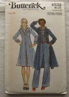 Vintage Dress Sewing Pattern*Butterick 4532*Size 16*UNCUT/FF*Shirt-Jacket*flared