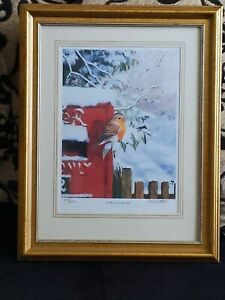 Limited Edition  red Robin A Winter Friend David Feather Compton House 2950/298