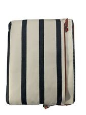 Fossil Ipad Table Case E Reader Navy Stripped Zipper Pouch Msrp 50