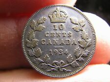 Canada 10 Cents 1934 coin Georges V