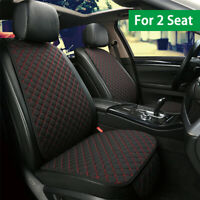 Breathable Universal Seat Cover Mat Cushion Pad For 2 * Front Seat Easy Install