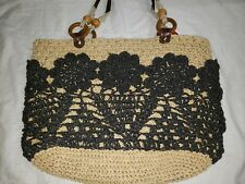 Fossil Large Straw Jute Handbag Purse  1-20