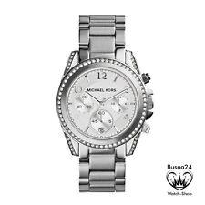 Original Michael Kors Damen Uhr Silberfarben MK5165 Chronograph Zirkonia Neu&Ovp