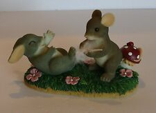 Charming Tails Fitz and Floyd Tickled Pink Figurine