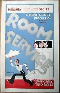"""Ca. 1938 Handbook for """"Room Service"""" George Abbott Prod. John Held Jr. ART"""