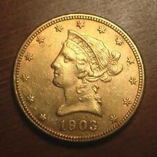 Beautiful 1903 Gold $10 Liberty Eagle Coin ~ BU ~