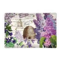 Michel Design Works Lilac and Violets Floral Rectangular Glass Soap Dish