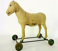 Antique 1900 Steiff Mohair Donkey Ride on Stuffed Animal Toy