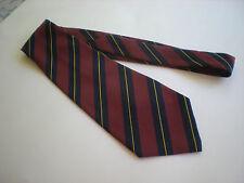 Men's Lugora Classic Brown, Navy Blue & Gold Striped Necktie Tie