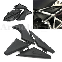 Side Panel Frame Guard Protector Cover L&R for BMW R1200GS/ADV 2014 ~2018 Black