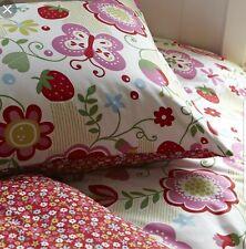 Aspace Strawberry Flair Single Bedding Set & Decorative Cushion - Floral - New!