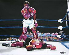 Muhammad Ali Original Art PAINTING Artist DAN BYL Famous Celebrity Huge 4x5ft