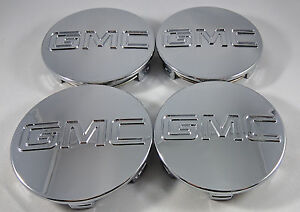 Set of 4x GMC Chrome Center Wheel Center Caps Sierra Denali Yukon 83MM 3.25""