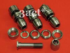 4 set Titanium/Ti Mtn / Road Brake V-Brake Pad Bolt Nut Washer