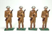 Lot (4) Vintage Barclay Lead Toy Soldiers U.S. Military 3in Tall