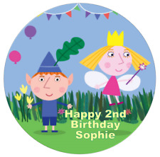 Personalised Ben and Holly's Little Kingdom 19cm Edible Wafer Paper Cake Topper