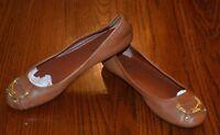 RALPH LAUREN Women's Brown Leather  Abigale Ballet Flats Loafers  - SZ 6M - EUC