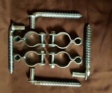 "4 Gate Hinges 1-5/8 - 1-3/4 and 4 Hang Bolts 5/8"" Pin X 6"" For Farm Gates"