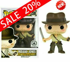 "Funko Pop! Indiana Jones #200 Disney Parks Exclusive label ""MINT""。With Protector"