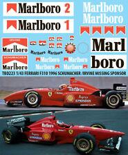 1/43 FERRARI F310 1996 SCHUMACHER IRVINE SPONSOR DECALS TB DECAL TBD223