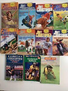 Lot of 10 Matt Christopher Books Paperback: Sports, Kobe Bryant, Basketball