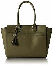 Cole Haan Gladstone E/W Leather Tote Satchel Bag Large Fern Green