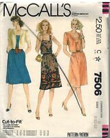 7506 Vintage McCalls Sewing Pattern Misses Top Stitched Jacket Dress OOP 8 - 12