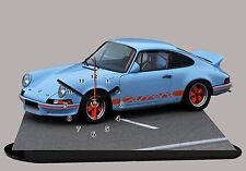 MODEL CARS, PORSCHE CARRERA-02, car passenger,11,8x 7,8 inches  with Clock