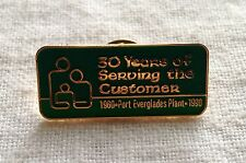 Vintage - Fort Everglades Power Plant Pin-1990, 30 years  +
