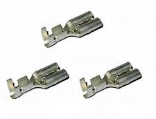 3x unisolierte faston GAINE DE PRISE Cosse électrique Plate 9,5mm x 1,2mm avec