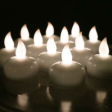 12 X Waterproof LED Floating Tealight Flameless Candle Wedding Party Warm White