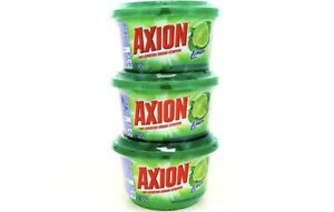 (3 Pack) AXION The Real GREASE-STRIPPER Lemon Dish Washing Paste Detergent 425 g