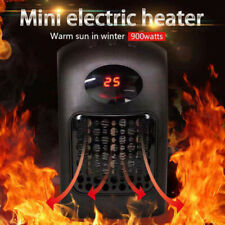 Digitaler Mini-Heizung Heizlüfter 900W Steckdose Elektro Heizgerät Ventilator