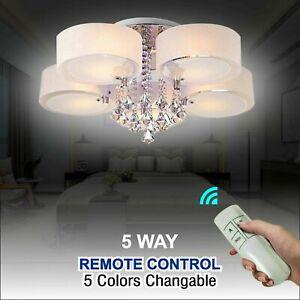 LED Crystal Ceiling lights Chandelier Kitchen Bedroom Living Room Light Shades