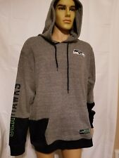 NFL Team Apparel Seattle Seahawks Gray Blue Pullover Hoodie Sweatshirt Mens New