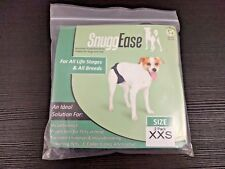 2 Pack XXS SnuggEase Washable Protective Incontinence Diapers Pants Pads Dog Cat