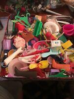 Mattel Barbie Doll Accessories Lot Shoes, Hair Items, Hangers,  Etc