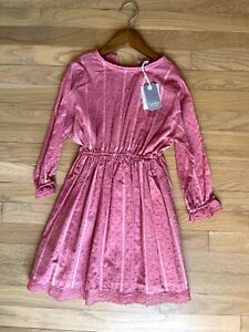 NEW w Tag   10 y old   Tocoto Vintage Pink Dress   Double Lined   100% cotton