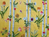 Vintage Martex Yellow Floral Bamboo Pillowcase Standard