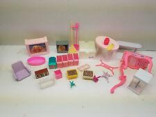 Vintage Miscellaneous Lot of Barbie Furniture 31 Pieces Mattel Tv's Tables Etc