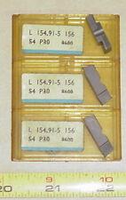 Lot (7) SANDVIK L154.91-5-156 CARBIDE INSERTS _ S4 P30