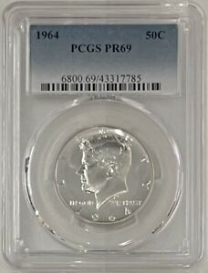 1964 Proof Kennedy Half Dollar PCGS PR69