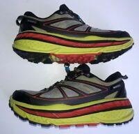 HOKA One One Men's Stinson ATR Running Shoes Size 9.5 M / 43.5 EU - Lime/Red